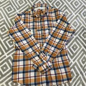 New L Flex Flannel Mustard, Navy, White, Old Navy